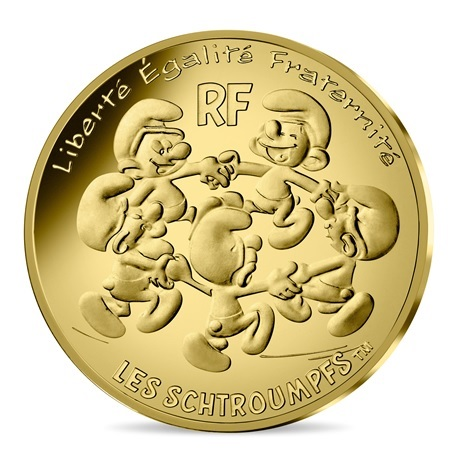 (EUR07.ComBU&BE.2020.20000.BU.10041345710001) 200 euro France 2020 or BU - Ronde des Schtroumpfs Avers