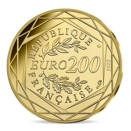 (EUR07.ComBU&BE.2020.20000.BU.10041345710001) 200 euro France 2020 or BU - Ronde des Schtroumpfs Revers