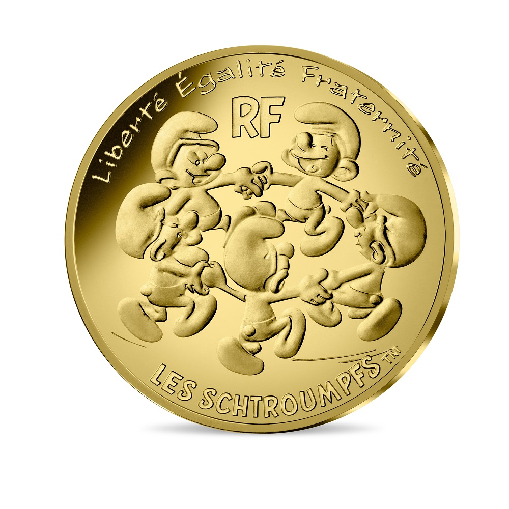 (EUR07.ComBU&BE.2020.20000.BU.10041345710001) The Smurfs dancing in a circle Obverse (zoom)