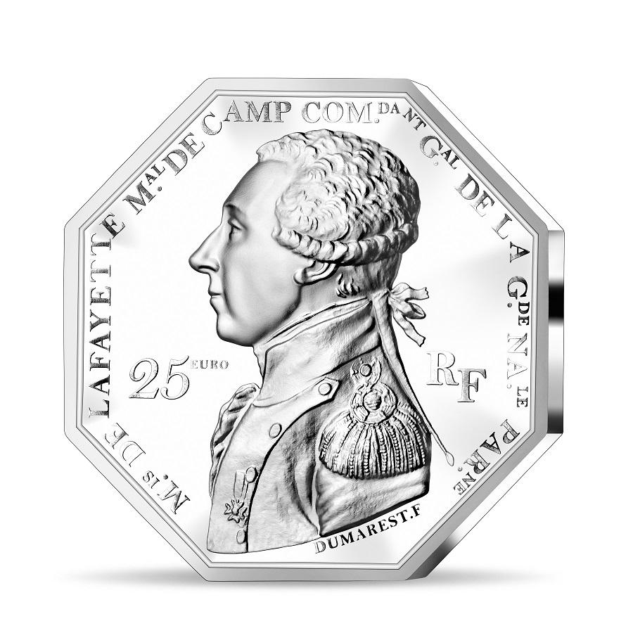 (EUR07.ComBU&BE.2020.2500.BE.10041349350000) 25 euro France 2020 Proof Ag - Lafayette Obverse (zoom)