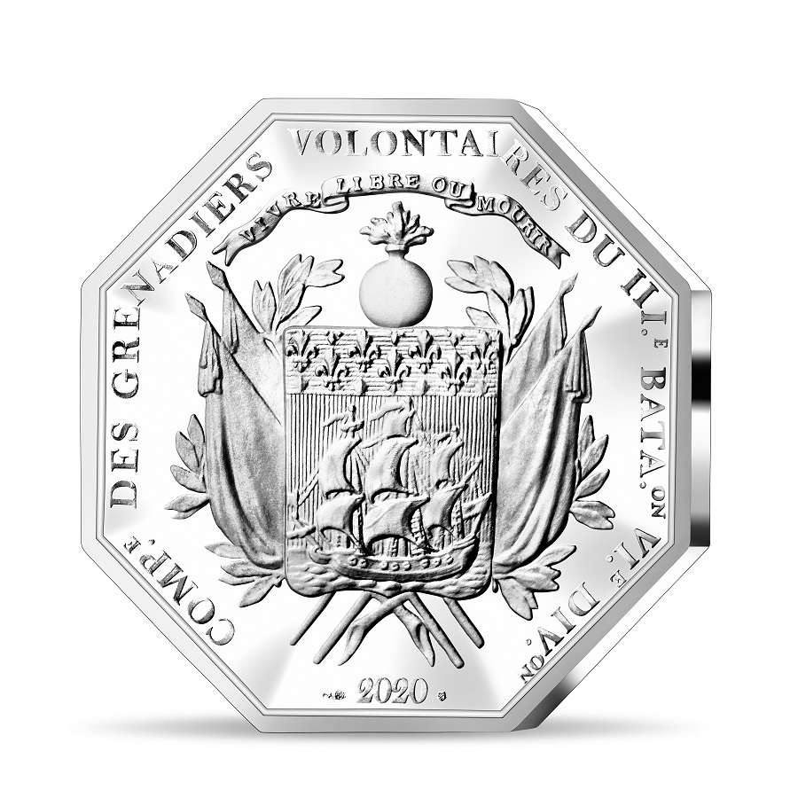 (EUR07.ComBU&BE.2020.2500.BE.10041349350000) 25 euro France 2020 Proof Ag - Lafayette Reverse (zoom)