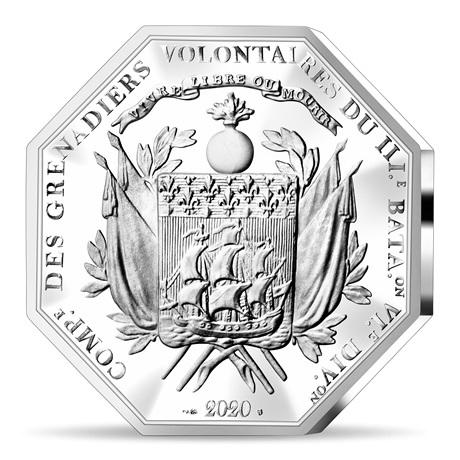 (EUR07.ComBU&BE.2020.2500.BE.10041349350000) 25 euro France 2020 argent BE - La Fayette Revers