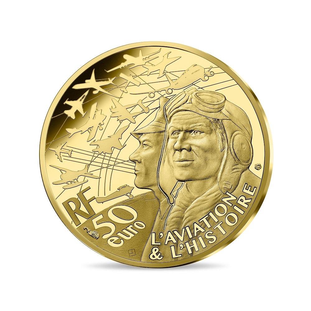 (EUR07.ComBU&BE.2020.5000.BE.10041344250000) 50 euro France 2020 Proof Au - Spitfire Obverse (zoom)