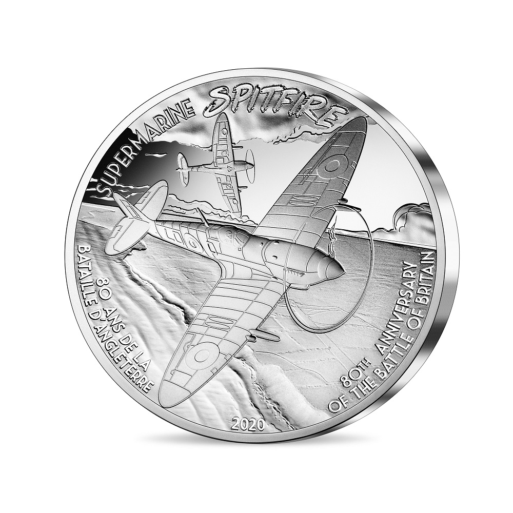(EUR07.ComBU&BE.2020.5000.BE.10041344260000) 50 euro France 2020 Proof Ag - Spitfire Reverse (zoom)