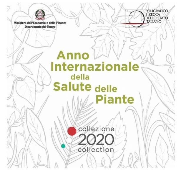 (EUR10.CofBU&FDC.2020.Cof-BU.1) BU coin set Italy 2020 (International Year of plant health) (zoom)