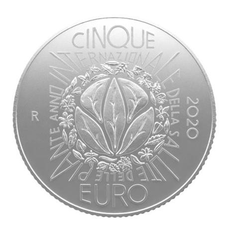 (EUR10.ComBU&BE.2020.500.BU.COM2) 5 euro Italie 2020 argent BU - Santé des plantes Revers