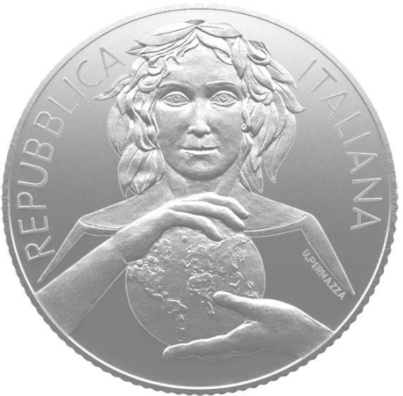 (EUR10.ComBU&BE.2020.500.BU.COM2) 5 euro Italy 2020 BU silver - Plant health Obverse (zoom)