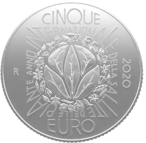 (EUR10.ComBU&BE.2020.500.BU.COM2) 5 euro Italy 2020 BU silver - Plant health Reverse (zoom)
