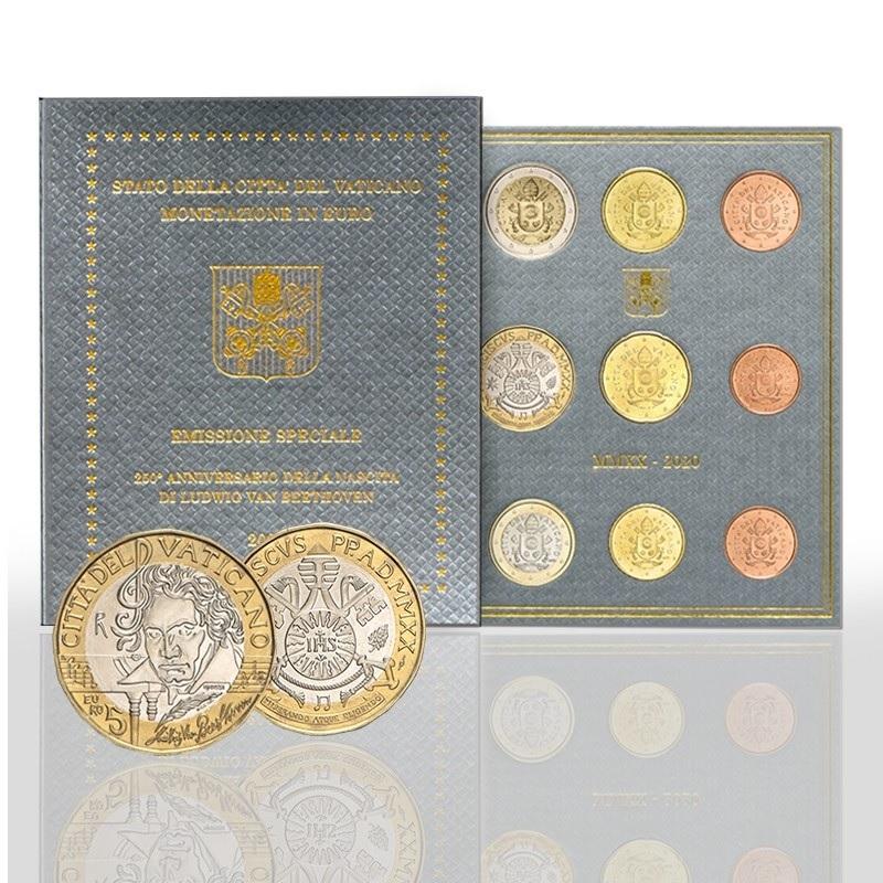 (EUR19.CofBU&FDC.2020.CN1533) BU coin set Vatican City 2020 - Ludwig Van Beethoven (zoom)