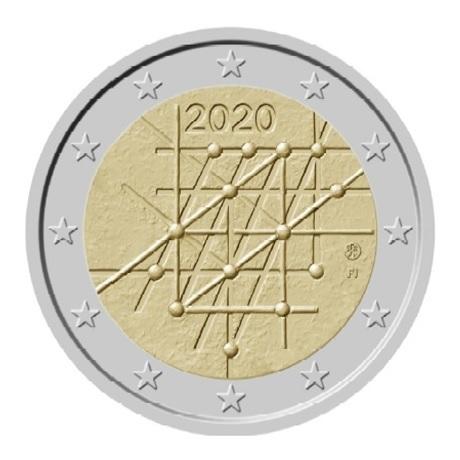 2 euro commémorative Finlande 2020 - Université de Turku