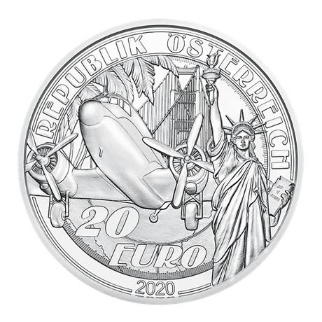 (EUR01.ComBU&BE.2020.2000.BE.24599) 20 euro Autriche 2020 argent BE - Au-dessus des nuages Avers