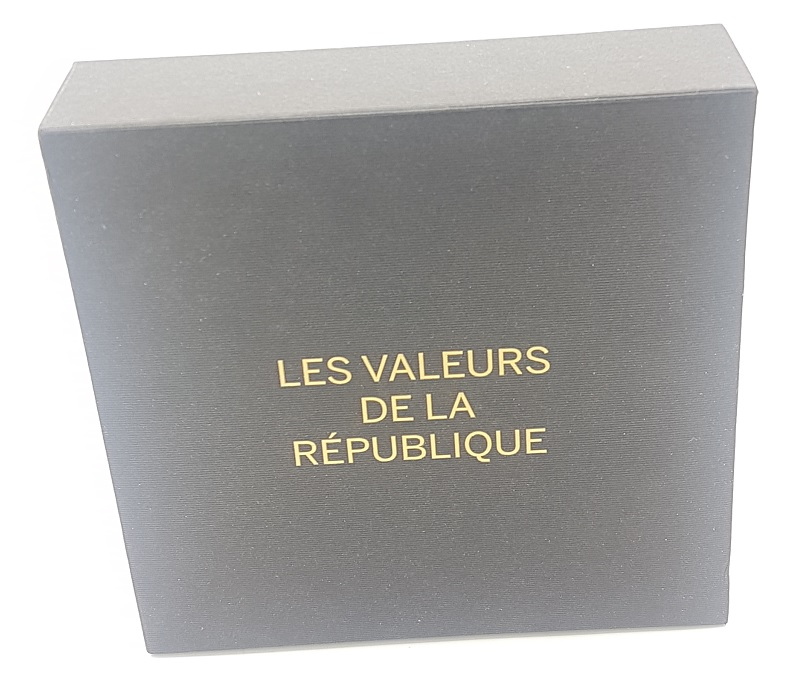 (EUR07.CofBU&FDC.2013.Cof-BU&UNC) Coffret France 2013 - Values of the Republic (box front) (zoom)