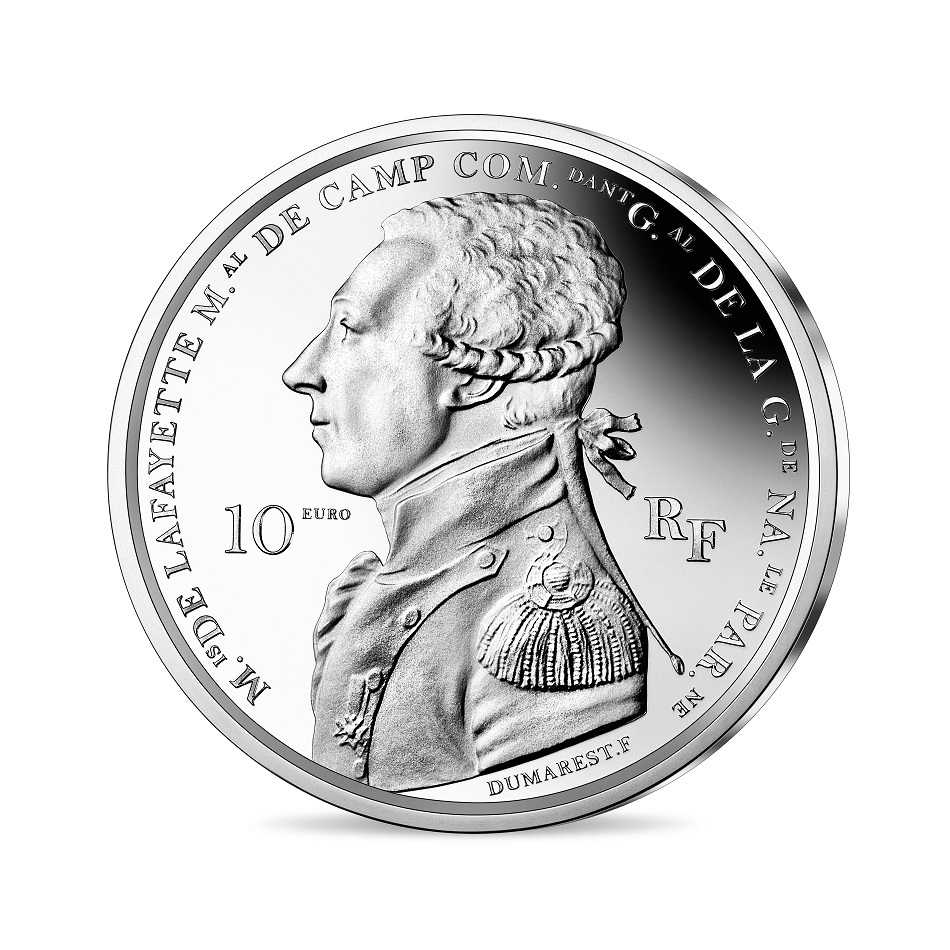 (EUR07.ComBU&BE.2020.1000.BE.10041344040000) 10 euro France 2020 Proof Ag - Lafayette Obverse (zoom)
