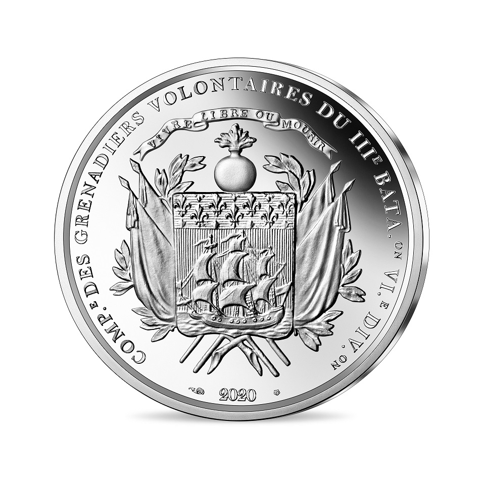 (EUR07.ComBU&BE.2020.1000.BE.10041344040000) 10 euro France 2020 Proof Ag - Lafayette Reverse (zoom)