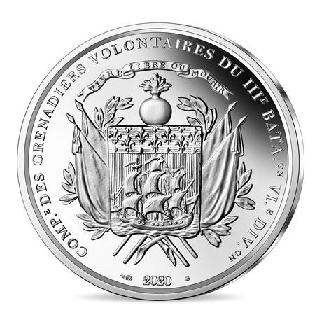 (EUR07.ComBU&BE.2020.1000.BE.10041344040000) 10 euro France 2020 argent BE - La Fayette Revers