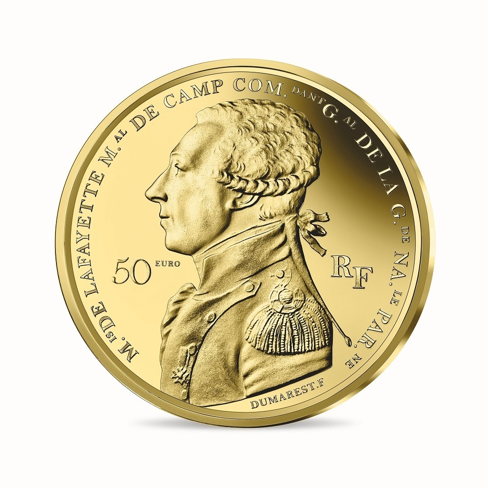 (EUR07.ComBU&BE.2020.5000.BE.10041344020000) 50 euro France 2020 Proof Au - Lafayette Obverse (zoom)