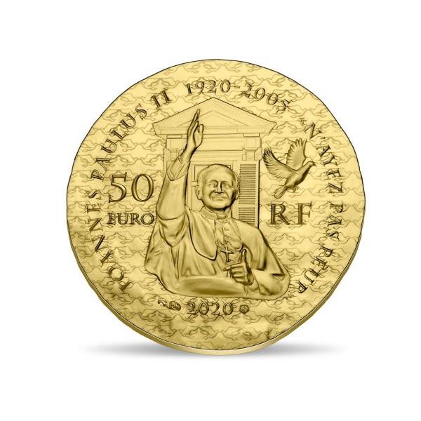 (EUR07.ComBU&BE.2020.5000.BE.10041344160000) 50 euro France 2020 Proof Au - Sœur Emmanuelle Reverse (zoom)