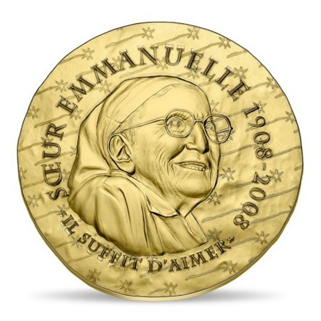 (EUR07.ComBU&BE.2020.5000.BE.10041344160000) 50 euro France 2020 or BE - Soeur Emmanuelle Avers