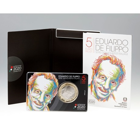 (EUR10.ComBU&BE.2020.48-2MS10-20P009) 5 euro Italie 2020 BE - Eduardo de Filippo (packaging)