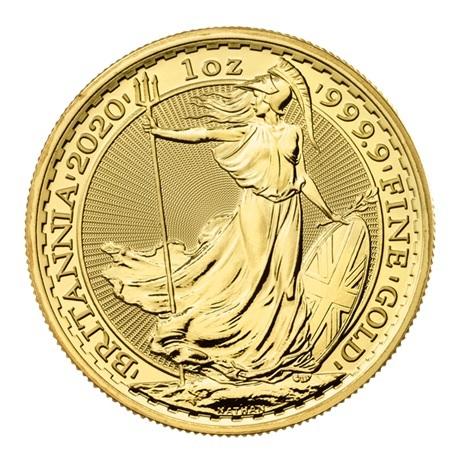 (W185.10000.2020.UKB20GOS) 100 Pounds Royaume-Uni 2020 1 once or - Britannia Revers