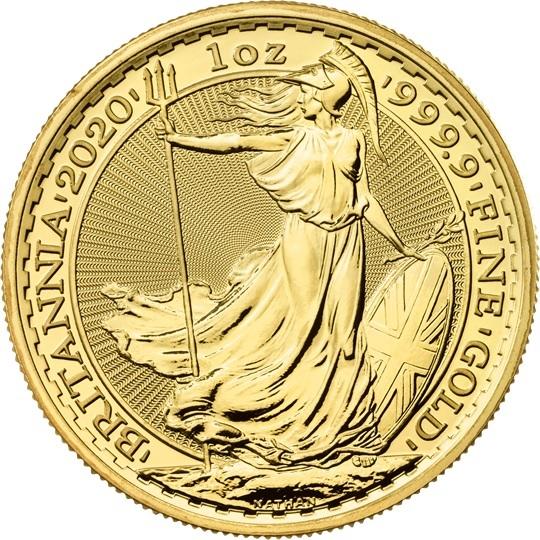 (W185.10000.2020.UKB20GOS) 100 Pounds United Kingdom 2020 1 oz gold - Britannia Reverse (zoom)