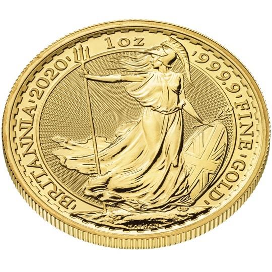 (W185.10000.2020.UKB20GOS) 100 Pounds United Kingdom 2020 1 oz gold - Britannia (edge) (zoom)