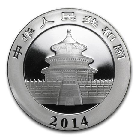 10 Yuan Chine 2014 1 once argent BU - Panda Avers