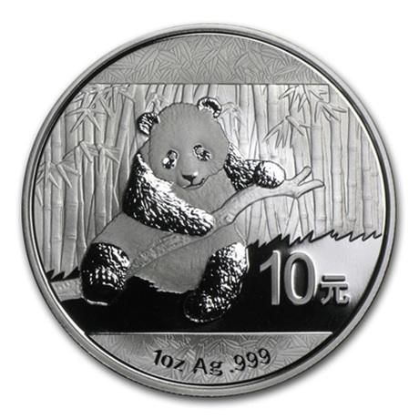 10 Yuan Chine 2014 1 once argent BU - Panda Revers