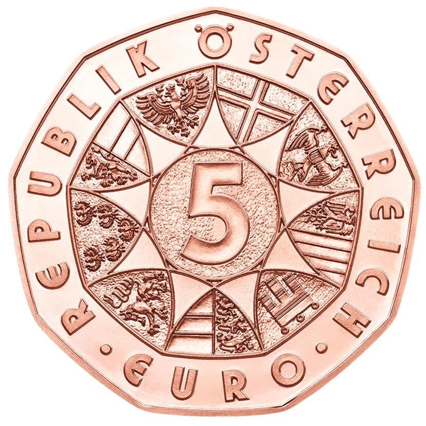(EUR01.500.2020.24607) 5 euro Austria 2020 - Friends for life Obverse (zoom)