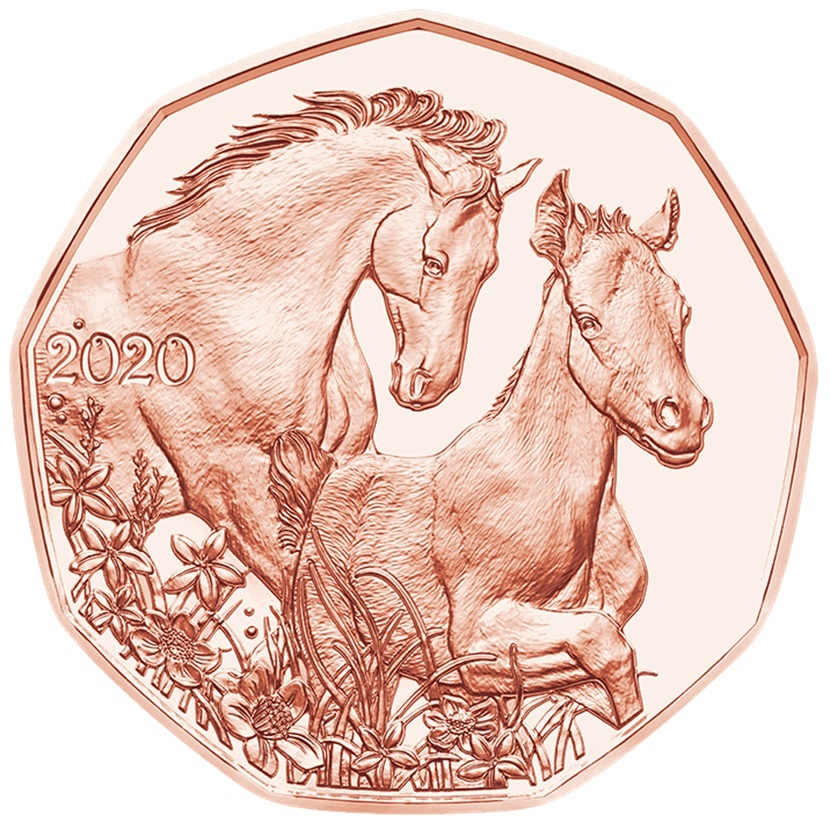 (EUR01.500.2020.24607) 5 euro Austria 2020 - Friends for life Reverse (zoom)