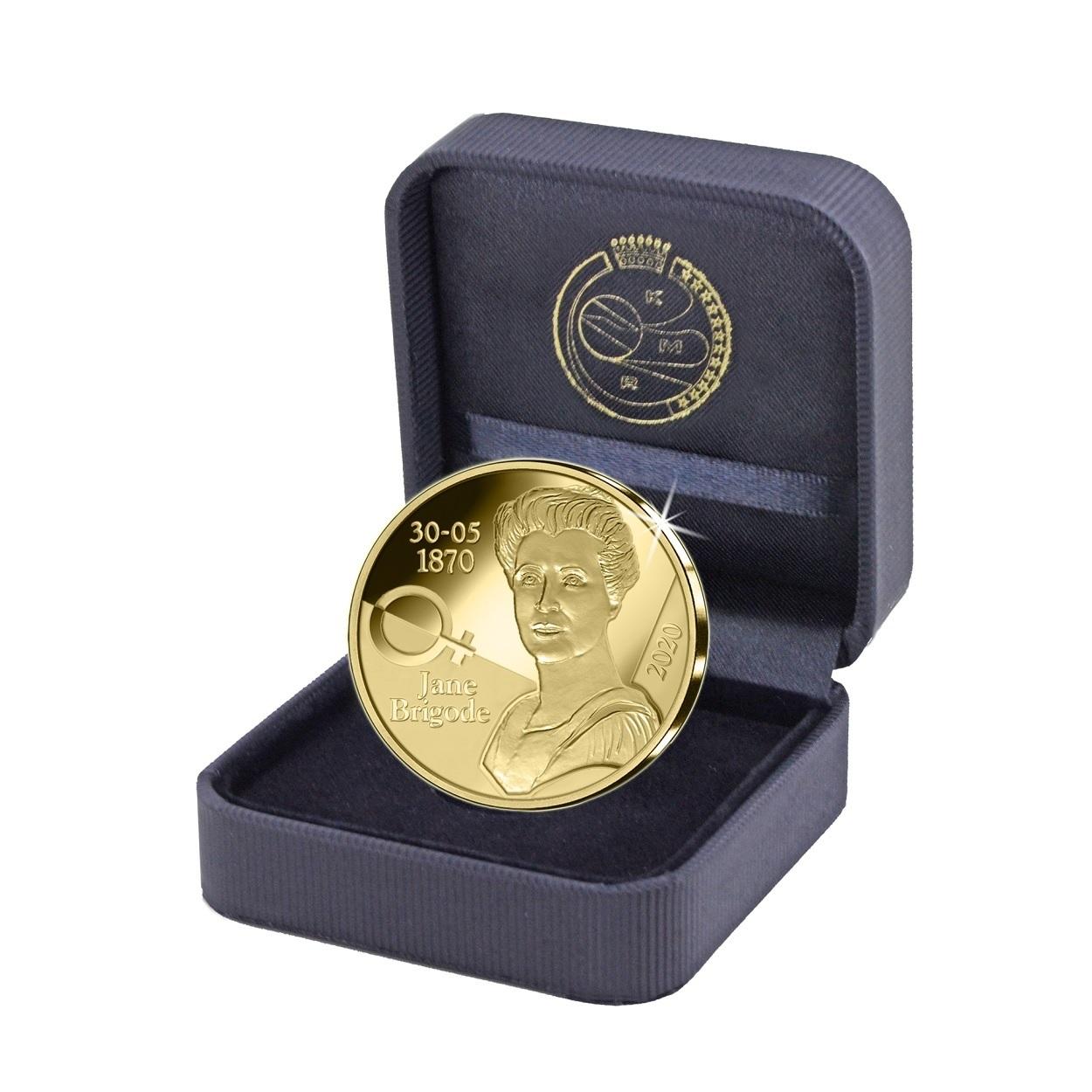 (EUR02.ComBU&BE.2020.1250.BE.COM1) 12.50 euro Belgium 2020 Proof gold - Jane Brigode (case) (zoom)