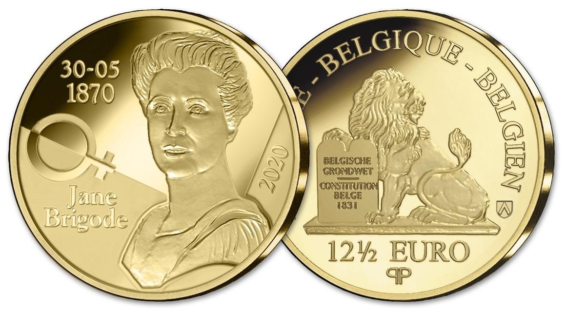 (EUR02.ComBU&BE.2020.1250.BE.COM1) 12.50 euro Belgium 2020 Proof gold - Jane Brigode (zoom)