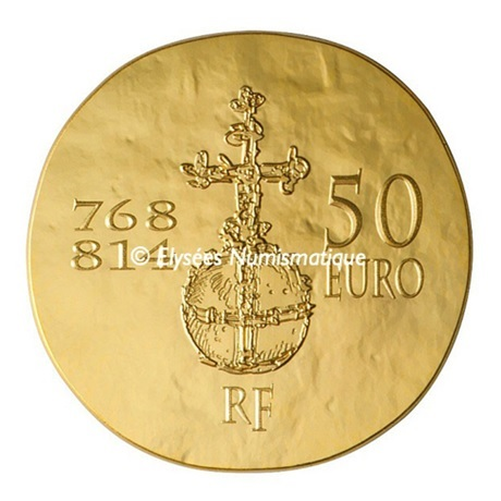 (EUR07.ComBU&BE.2011.10041269220000) 50 euro France 2011 Au BE - Charlemagne Revers