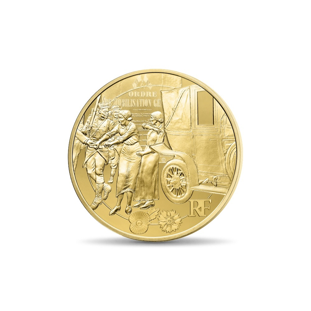 (EUR07.ComBU&BE.2014.10041286750000) 50 euro France 2014 Proof gold - First World War Obverse (zoom)