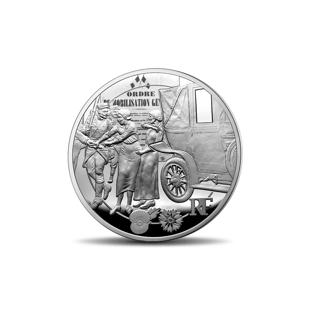 (EUR07.ComBU&BE.2014.10041286770000) 50 euro France 2014 Proof silver - First World War Obverse (zoom)