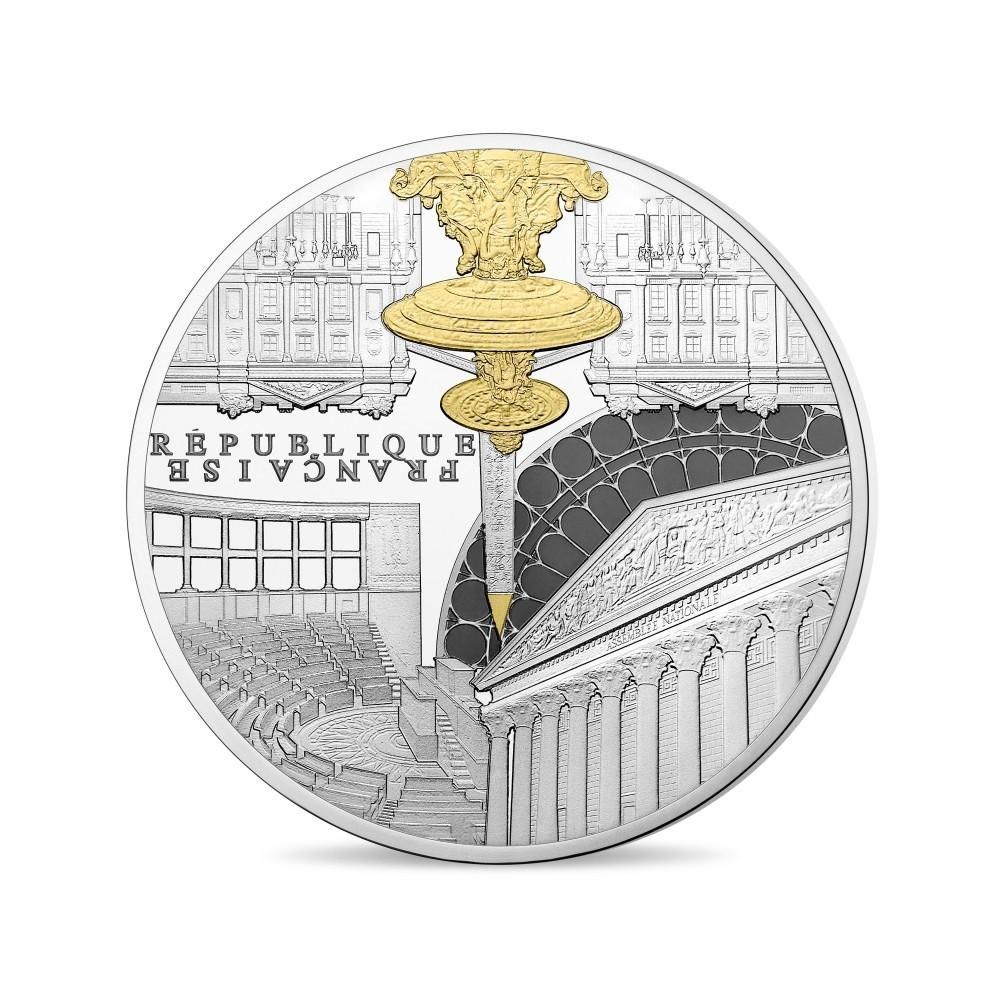 (EUR07.ComBU&BE.2017.10041307880000) 50 euro France 2017 Proof Ag - Assemblée Nationale Obverse (zoom)
