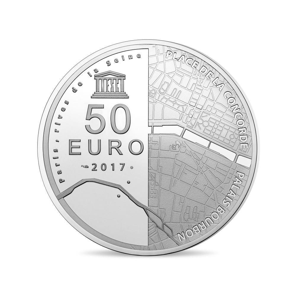 (EUR07.ComBU&BE.2017.10041307880000) 50 euro France 2017 Proof Ag - Assemblée Nationale Reverse (zoom)