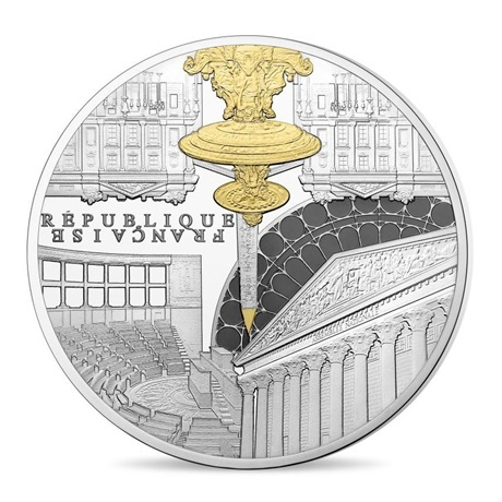 (EUR07.ComBU&BE.2017.10041307880000) 50 euro France 2017 argent BE - Assemblée Nationale Avers