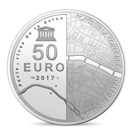 (EUR07.ComBU&BE.2017.10041307880000) 50 euro France 2017 argent BE - Assemblée Nationale Revers