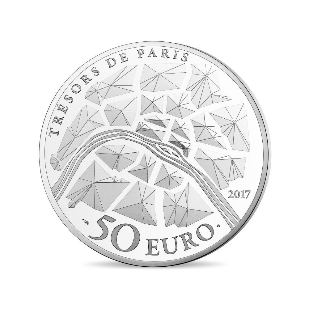 (EUR07.ComBU&BE.2017.10041308270000) 50 euro France 2017 Proof Ag - Bastille Genius Reverse (zoom)