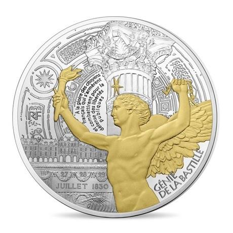 (EUR07.ComBU&BE.2017.10041308270000) 50 euro France 2017 argent BE - Génie de la Bastille Avers