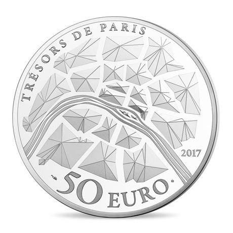 (EUR07.ComBU&BE.2017.10041308270000) 50 euro France 2017 argent BE - Génie de la Bastille Revers