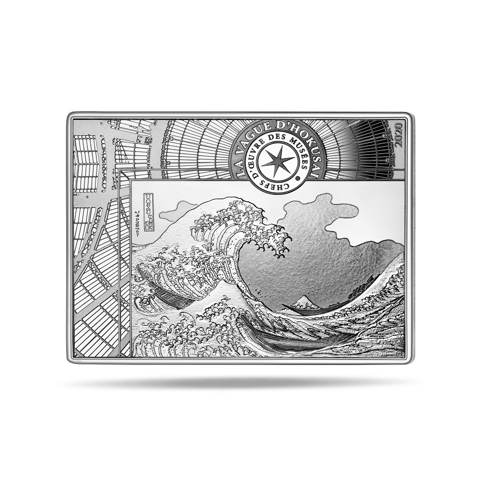 (EUR07.ComBU&BE.2020.10041343690000) 10 euro France 2020 Proof Ag - The Great Wave Reverse (zoom)