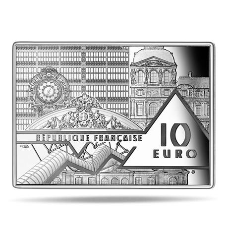 (EUR07.ComBU&BE.2020.10041343690000) 10 euro France 2020 argent BE - La Vague Avers