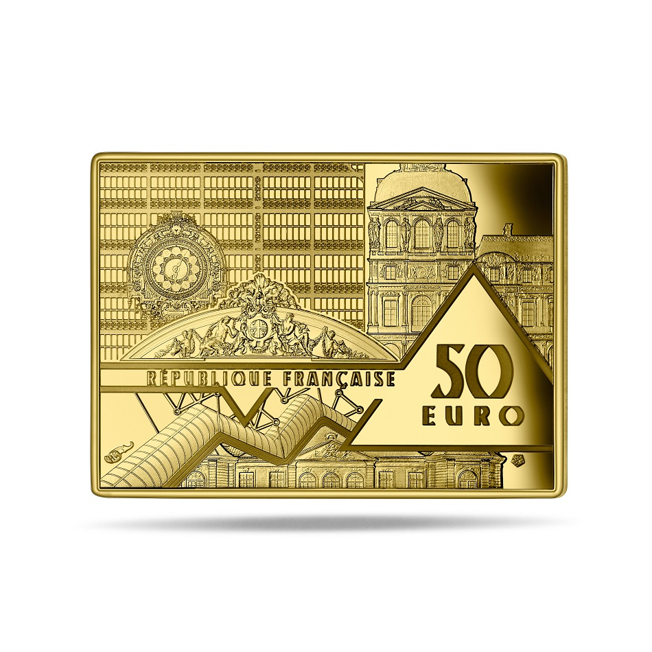 (EUR07.ComBU&BE.2020.10041343710000) 50 euro France 2020 Proof Au - Guernica, by Picasso Obverse (zoom)