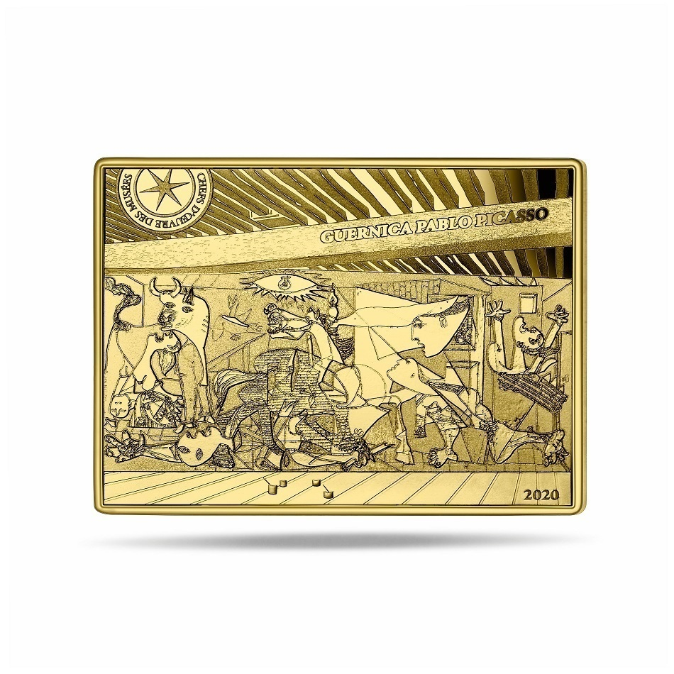 (EUR07.ComBU&BE.2020.10041343710000) 50 euro France 2020 Proof Au - Guernica, by Picasso Reverse (zoom)
