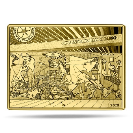 (EUR07.ComBU&BE.2020.10041343710000) 50 euro France 2020 or BE - Guernica Revers
