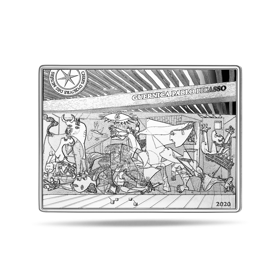 (EUR07.ComBU&BE.2020.10041343720000) 10 euro France 2020 Proof Ag - Guernica Reverse (zoom)