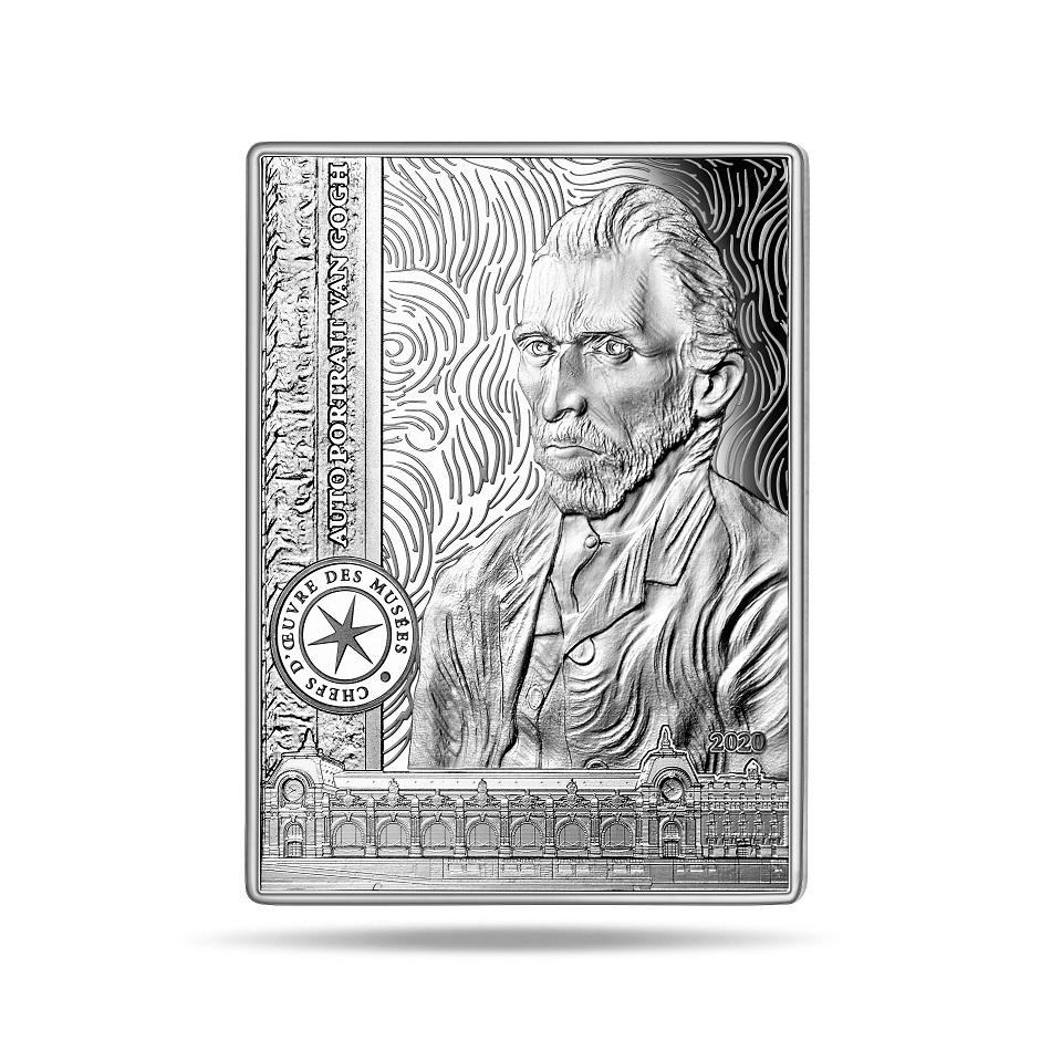 (EUR07.ComBU&BE.2020.10041343750000) 10 euro France 2020 Proof Ag - Self-portrait of Van Gogh Reverse (zoom)