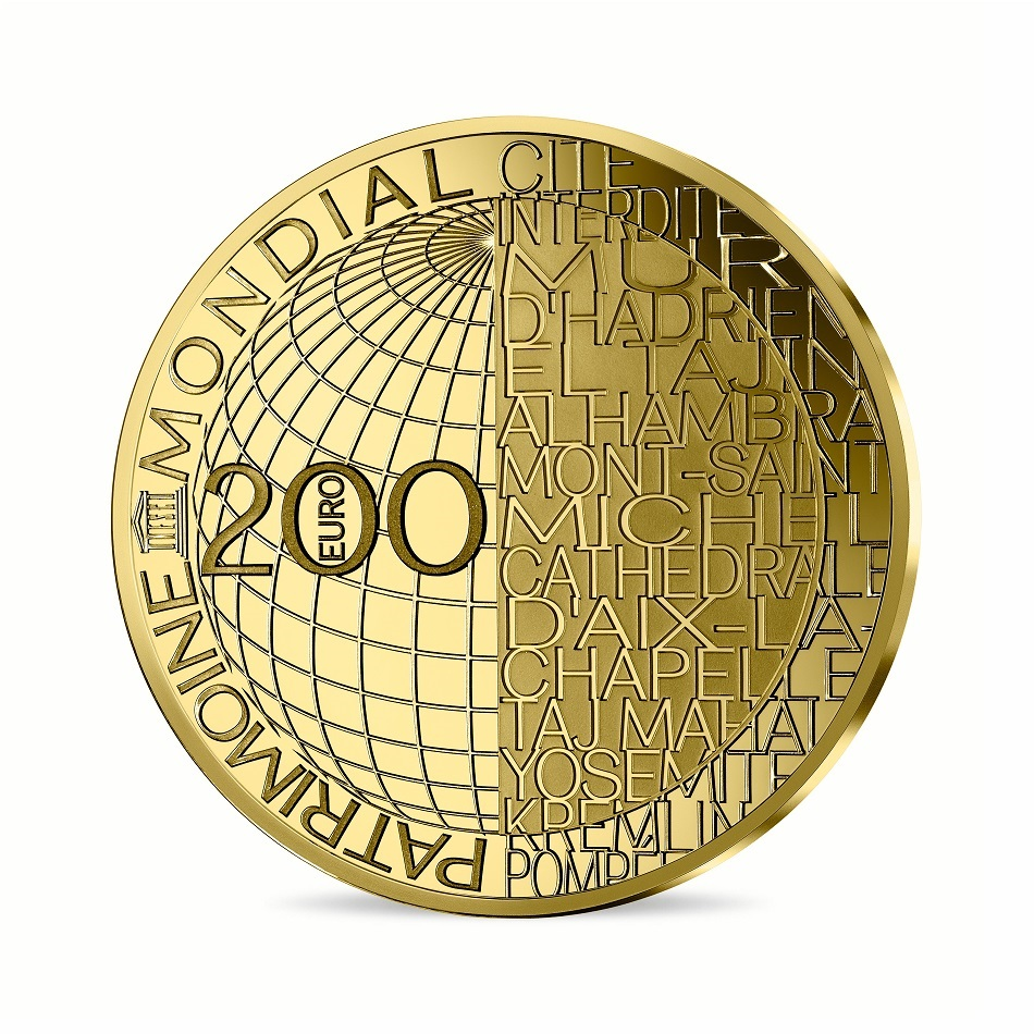 (EUR07.ComBU&BE.2020.10041344080000) 200 euro France 2020 Proof gold - Mount Fuji Reverse (zoom)